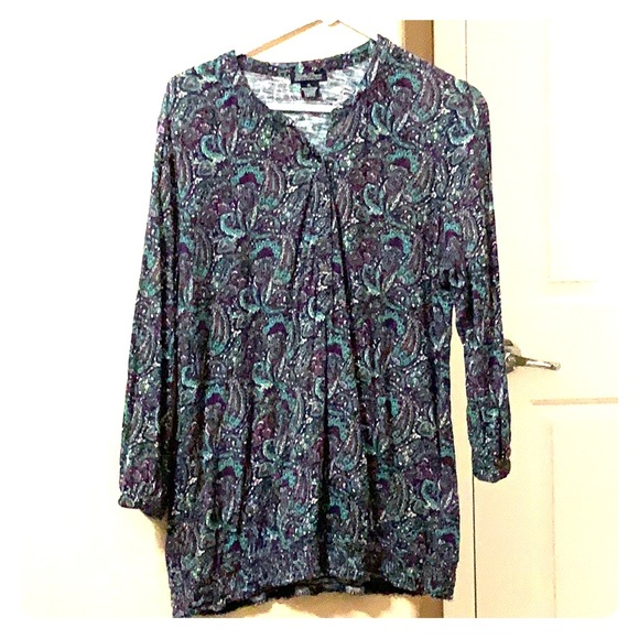 Lucky Brand Tops - Lucky Brand, Tunic top, xl, Cotton, beautiful!